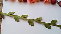 Тесма с листвой - зеленый