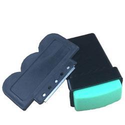 Стемпинг 1шт штамп обычный со скребком с метал. прямоугольный черный  PSO-05