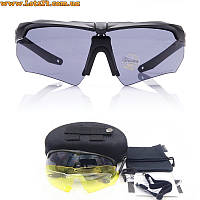 Тактические очки с диоптриями ESS Crossbow 3LS (3 линзы в комплекте, баллистические, солнцезащитные)