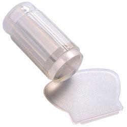 Стемпинг 1шт штамп силикон со скребком пластик круглый прозрачный PSS-00