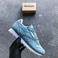 Кроссовки Reebok Classic blue. Живое фото! Топ качество! (рибок) 37