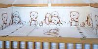 Набор постельного белья в детскую кроватку из 4 предметов Медведи (Оливець)