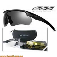 Тактические очки ESS Crossbow 3LS (3 линзы в комплекте, солнцезащитные, баллистические с диоптриями)