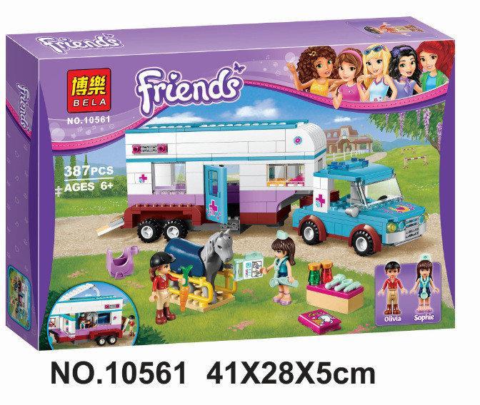 """Конструктор Bela Friends (Френдс) 10561 """"Ветеринарная машина для лошадок"""" (аналог LEGO Friends), 387 дет"""