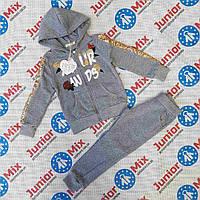 Детский утеплённый спортивный костюм  для девочек оптом  BBW