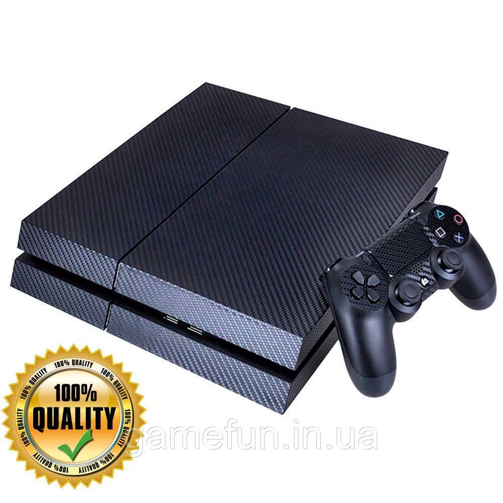 PS4 вінілові наклейки карбон (Преміум)
