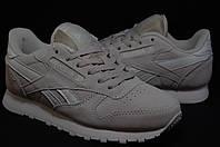 Reebok Classic серые замшевые кроссовки подросток