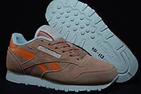 Reebok Classic подростковые кроссовки натуральный замш