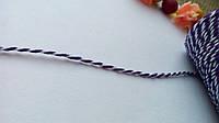 Шнур хлопковый - фиолетовый 0,5 м.