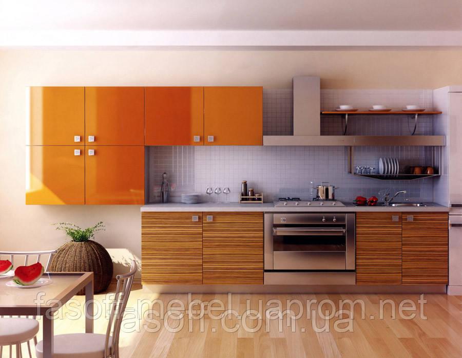Кухня МДФ шпонированный + покраска 026