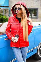 Женская демисезонная куртка с капюшоном. Ткань: плащевка. Размер: 42-44, 44-46, 46-48.