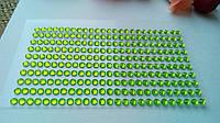 Стразы на клеевой основе - салатовый  250 шт. 3 мм.