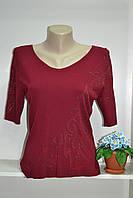 Женская летняя футболка бордо, фото 1