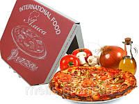 Упаковка для пиццы готовая и под заказ с печатью