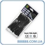 Стяжки кабельные пластиковые UV Black 2,5 x 120 мм (100шт) TS1125120B Bradas