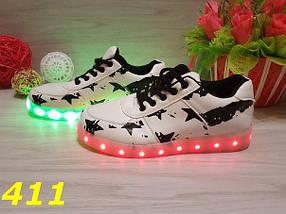 Женские кроссовки с LED подсветкой, р.37,38,39, фото 2
