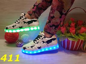 Женские кроссовки с LED подсветкой, р.37,38,39, фото 3