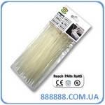 Стяжки кабельные пластиковые белые Neutral 7,6 x 150 мм TS1176150N Bradas