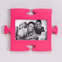 Оригинальная фоторамка Пазл (розовый)