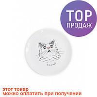 Тарелка Здивований кіт / Декорации для дома