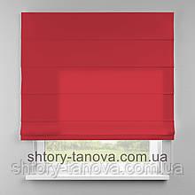 Римская штора 160x170 см из однотонной ткани, персидский красный, полиэстер