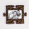 Дизайнерская фоторамка Пазл (золотой шоколад)