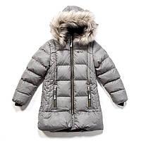 Зимнее термопальто для девочки NANO 4 лет, размер 104 ТМ Nanö Mid Grey Mix 1252 M F17