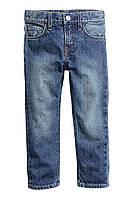 Детские зауженные джинсы с потертостями Н&М для мальчика