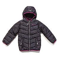 Куртка демисезонная для девочки 2-16 лет, размеры 92-152 ТМ Nanö Black Print F17 M 1250