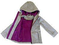 Куртка на флисе для девочки NANO 4-16 лет, размеры 104-152 ТМ Nanö Light Grey Mix F17 M 1400