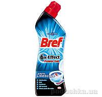 Гель для чистки и дезинфекции унитазов Bref Power 6-Effect Против известкового налета 750 мл 9000100541916