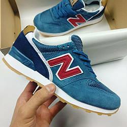 Женские кроссовки New Balance 574 (Нью Баланс) синие