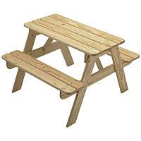 Детский стол для пикника с скамейками