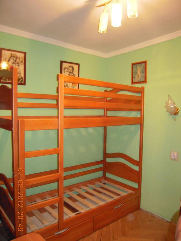 Ліжко двоярусне Вінні Пух підняте на 20 см
