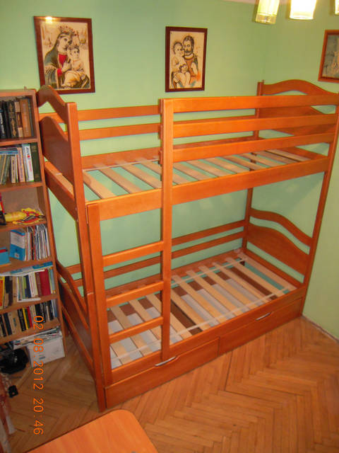 Ліжко двоярусне Вінні Пух підняте на 20 см 32