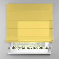 Римская штора 160x170 см из однотонной ткани, лимонный, полиэстер