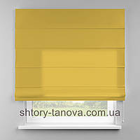 Римская штора 160x170 см из однотонной ткани, тёмно-жёлтый, полиэстер