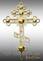 Крест православный с напылением нитрид титана КС8-02