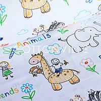 Хлопковая ткань Детские рисунки