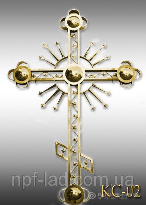 Крест православный с напылением нитрид титана КС-02