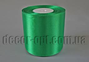Лента атласная оттенок зеленой 7,5-8см/23м арт.19