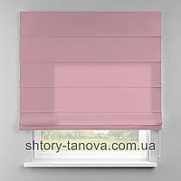 Римская штора 160x170 см из однотонной ткани, нежно-розовый, полиэстер