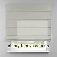 Римская штора 160x170 см из однотонной ткани, серый, полиэстер