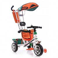 Трехколесный велосипед Azimut Лексус BC-15B Бело-оранжевый