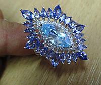 """Роскошное кольцо с танзанитами и топазом  """"Очарование"""" , размер 17.6 от студии LadyStyle.Biz, фото 1"""