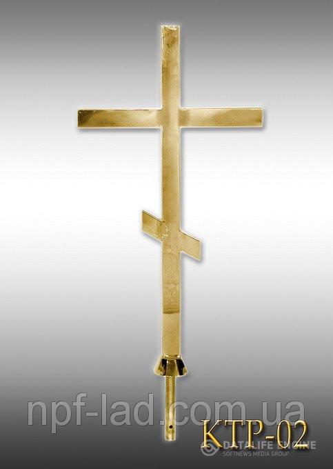 Крест православный с напылением нитрид титана КТР-02