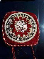 Накидки на стулья на завязках 50*50 Гобелен с окантовкой