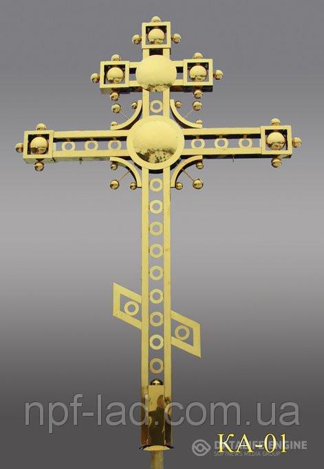 Крест православный с напылением нитрид титана КА-01
