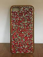 """Силиконовый чехол со стразами """"Apex"""" Crystal красный для iPhone 6/6S"""