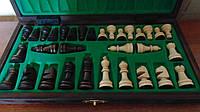 Шахматы деревянные резные Школьные размер 27*27